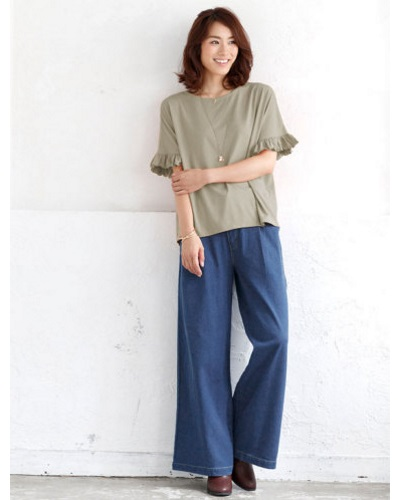 40代秋コーデ、大人ファッションのワイドパンツの使い方まとめ