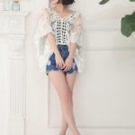 Nina(ニーナ)のちょっぴりセクシーなレディ&カジュアルな夏服コーデ